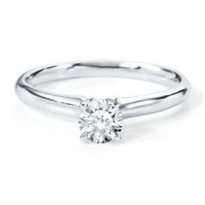 Certified 0.60 ct Round cut Diamond Solitaire Ring