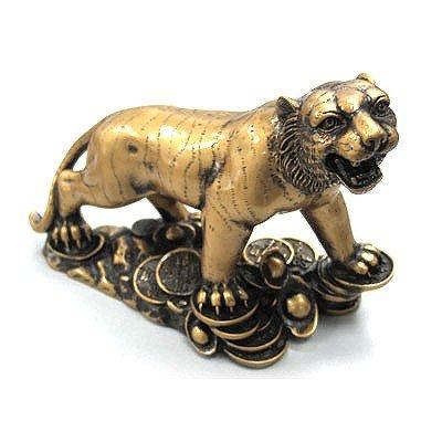 Tiger Artcrafted Bronze Figurine Symbols for Passion, P