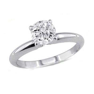 Certified 0.60 ctw Round cut Diamond Solitaire Ring