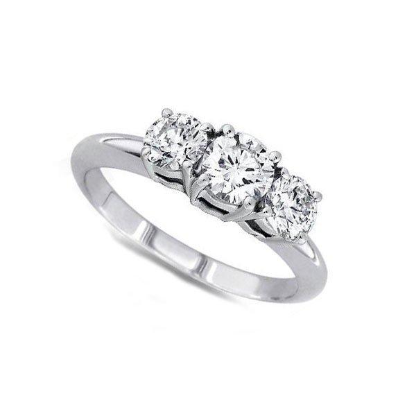Certified 2.00ctwRound Three Stone Diamond Ring,G-H,SI2