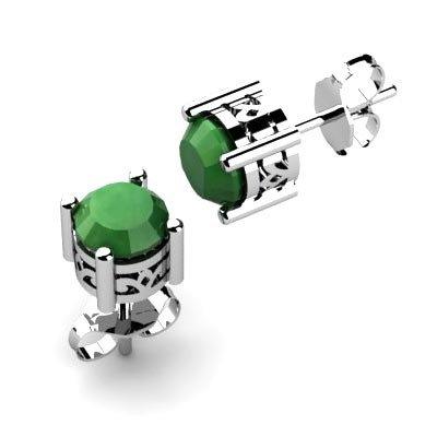 Emerald 0.96 ctw Earring 14kt White Gold