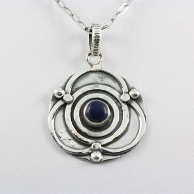 24.50ctw Lapis Gemstone Silver Pendant, 81.46 MSRP