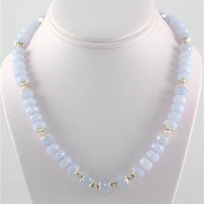 330ctw Blue Lace Rondelles Silver Pendant, 1568 MSRP