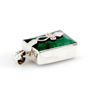 106ctw Unique Design Silver Emerald Gemstone Pendant