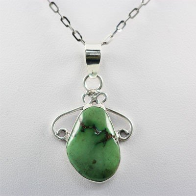 35.00ctw Turquoise Silver Pendant, 116 MSRP