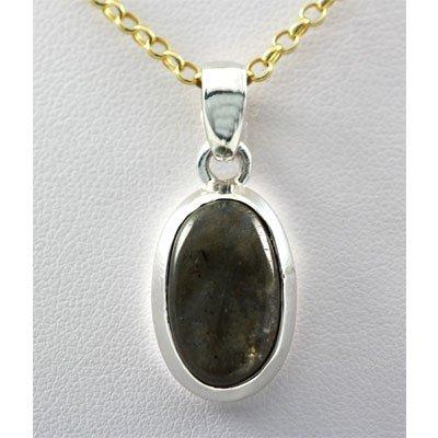 25.ctw Precious Gemstone Silver Pendant