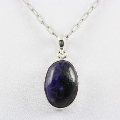 17.5ctw Purple Sugilite Silver Pendant