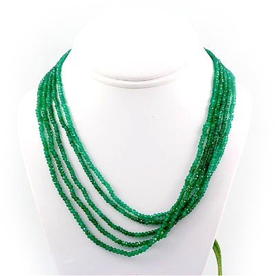 220.5ctw Natural Faceted Emerald Silver Sets
