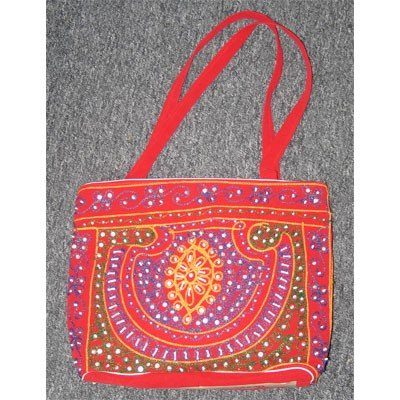 Red Hand Embroider Mix Colors Beads Indian Designs