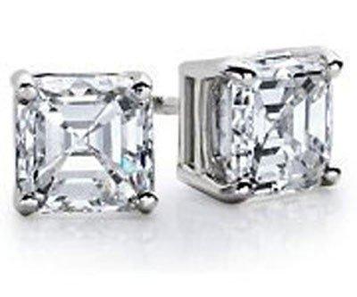 1.25 ctw Princess cut Diamond Stud Earrings, G-H, VS