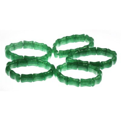 596ctw Natural Bright Green Translucent Jade Bracelet