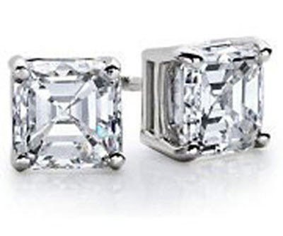 0.50 ctw Princess cut Diamond Stud Earrings