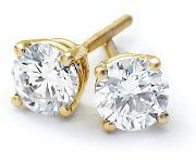 1.25 ctw Round cut Diamond Stud Earrings G-