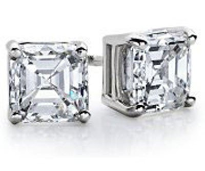 0.25 ctw Princess cut Diamond Stud Earrings