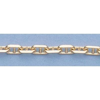 """Pure Gold 16"""" 14k  Gold-Yellow 2.7mm Anchor Chain 9g"""