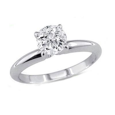 0.75 ct Round cut Diamond Solitaire Ring, G-H, VS