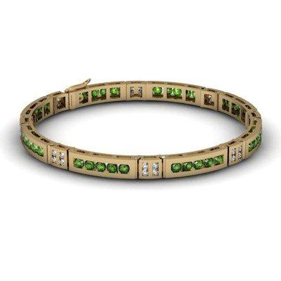 Tourmaline 2.56 ctw & Diamond Bracelet14kt W OR Y Gold