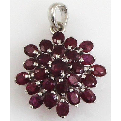 8.75 ctw 0.925 Sterling Silver Ruby Pendant (4.08g)