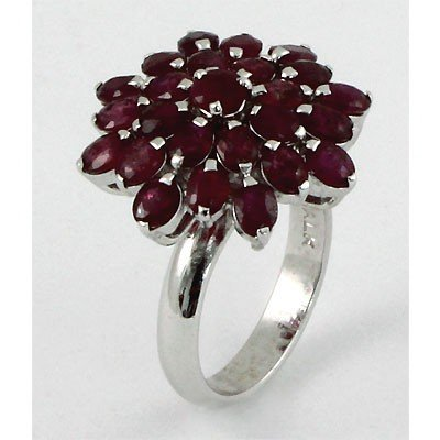 9.0 ctw .925 Sterling Silver Ruby Ring  (6.43g)