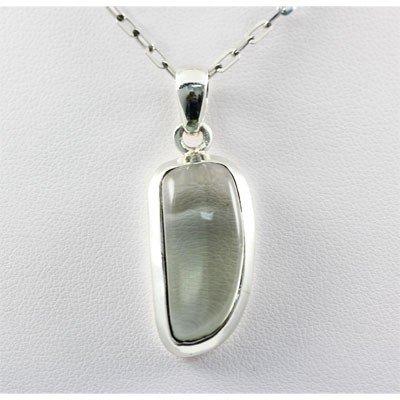 25.5ctw Prehnite Silver Pendant