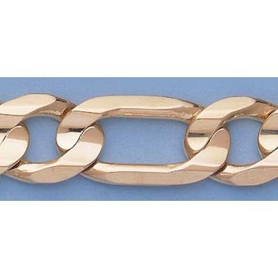 """Pure Gold 16"""" 14k  Gold-Yellow 13.8mm Figaro Chain"""