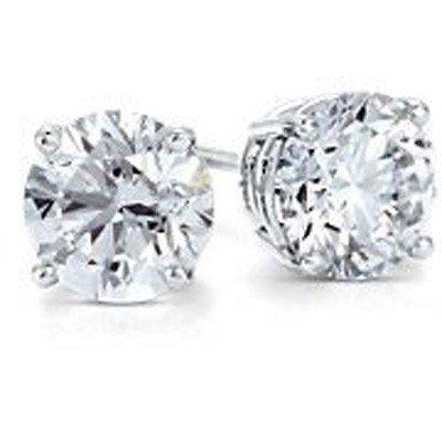 2.50 ctw Round cut Diamond Stud Earrings G-H, SI2
