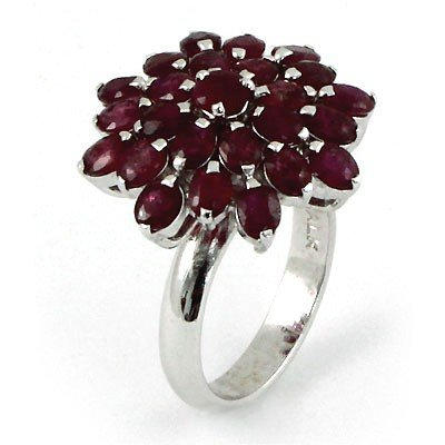9.0 ctw .925 Sterling Silver Ruby Ring (6.4)
