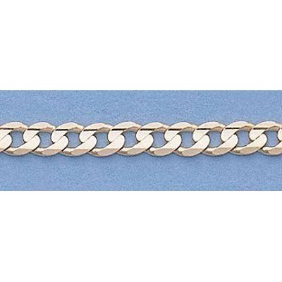 """Pure Gold 16"""" 14k Gold-Yellow 3.1mm Curb Chain"""
