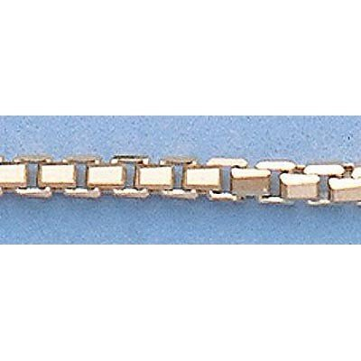 """Pure Gold 16"""" 14k Gold-Yellow 2.1mm 8 Sided Box Chain"""