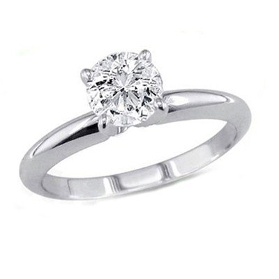 0.50 ct Round cut Diamond Solitaire Ring, G-H, SI2