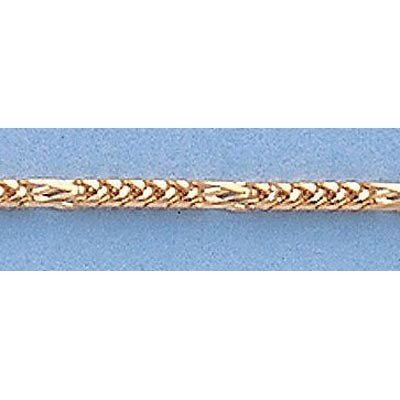 "Pure Gold 16"" 14k  Gold-Yellow Figaro Franco Chain"