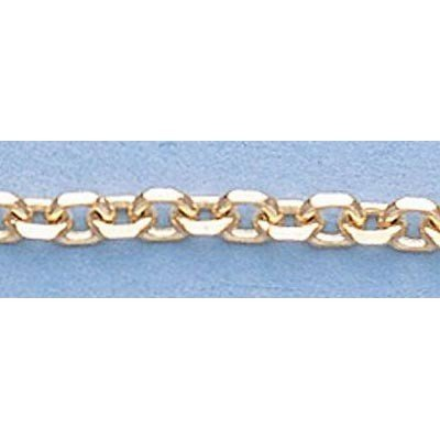 "Pure Gold 16"" 14k  Gold-Yellow  2.3mm D/C  Boston Chain"