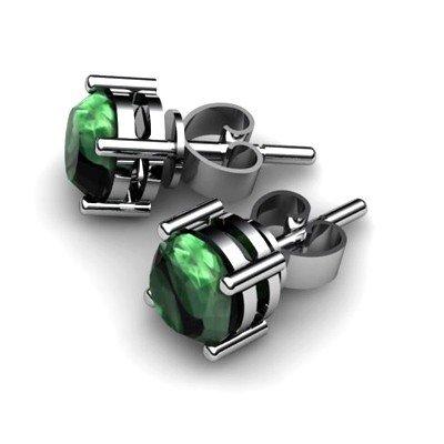 Emerald 1.6ctw Earring 14kt White Gold