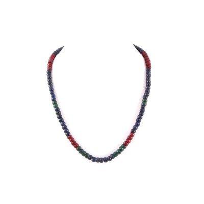 301.5ctw Multi Precious Gemstone Beads Necklace