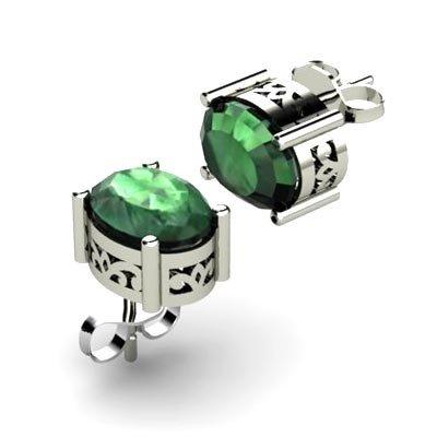 Emerald 2.52ctw Earring 14kt White Gold