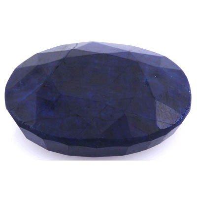 74.94ctw Genuine Navy Blue Sapphire Stone Oval Shape
