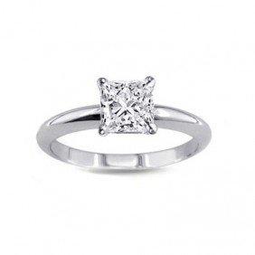 0.25 ct Princess cut Diamond Solitaire Ring