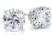 1.25 ctw Round cut Diamond Stud Earrings G-