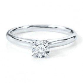 1021128167: 0.75 ct Round cut Diamond Solitaire Ring, G