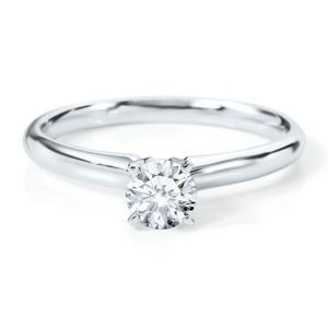 1021128167: 0.75 ct Round cut Diamond Solitaire Ring, G