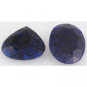 105.88ctw Navy Blue Sapphire Stone Mix Flat Shape&Size,