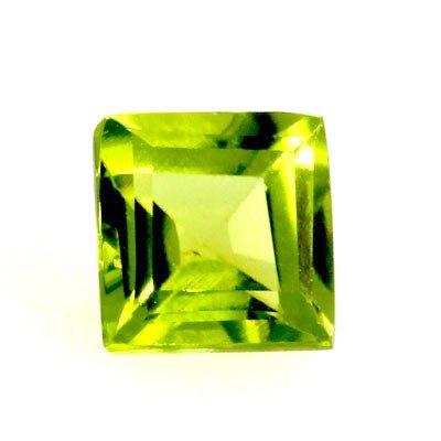 3.50 ctw Princess Cut Peridot Natural Gemstone