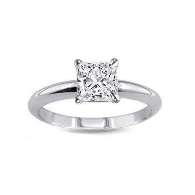 0.60 ct Princess cut Diamond Solitaire Ring, G-H, VS