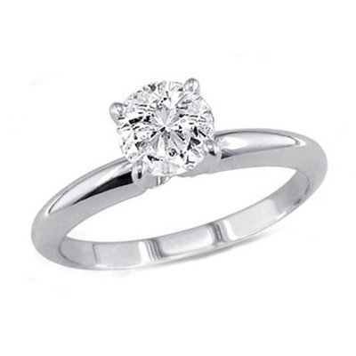 2.03 ct Round cut Diamond Solitaire Ring, G-H, SI2