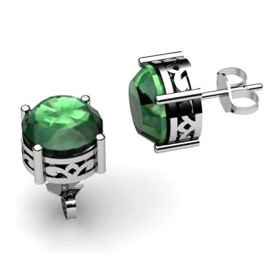 Emerald 2.5ctw Earring 14kt White Gold