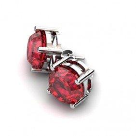 Garnet 11.5ctw Earring 14kt White Gold