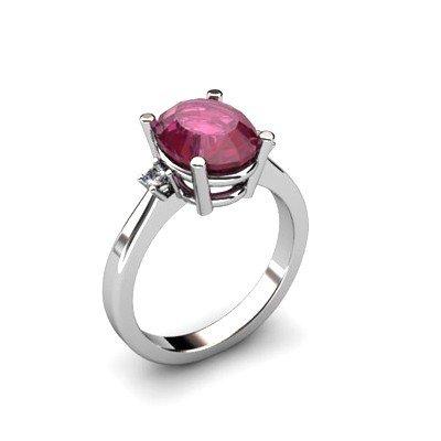 Ruby 3.31 ctw Diamond Ring 14kt White Gold