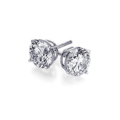 0.66 ctw Round cut Diamond Stud Earrings I-J, SI2