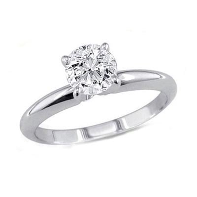 0.85 ct Round cut Diamond Solitaire Ring, G-H, VS