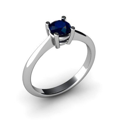 Sapphire 0.65ctw Ring 14kt White Gold